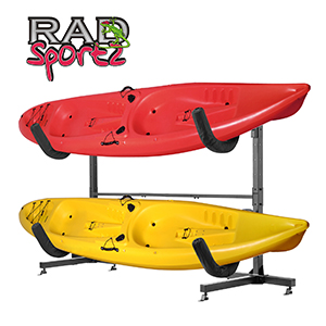 Constructed Of Heavy Duty Powder Coated Steel, This Is A Deluxe Quality  Freestanding Kayak Rack Is Ready To Withstand Elements If You Decide To Use  It ...